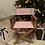 Thumbnail: Chaise metteur en scène personnalisé rose et liberty