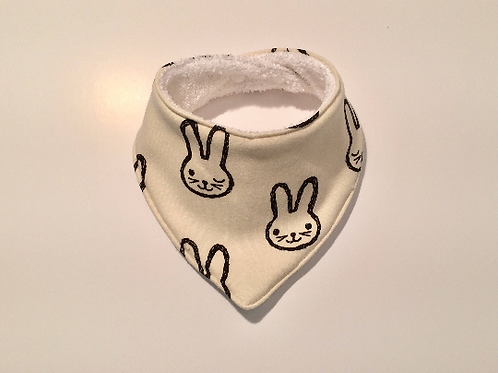 Bavoir bandana lapin