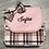 Thumbnail: Sac à dos personnalisé écossais rose noir beige