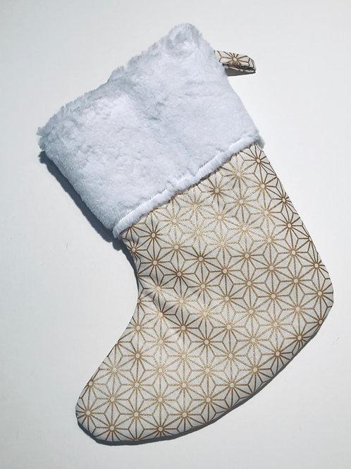 Chaussette de noël origami or personnalisable