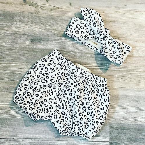 Ensemble bloomer et bandeau léopard