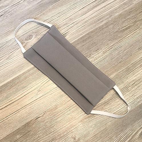 Masque lavable ADULTE gris à plis.