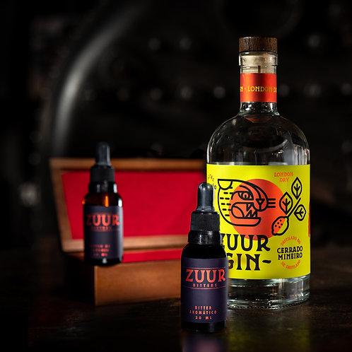Zuur Gin + Kit Bitter 3 Sabores