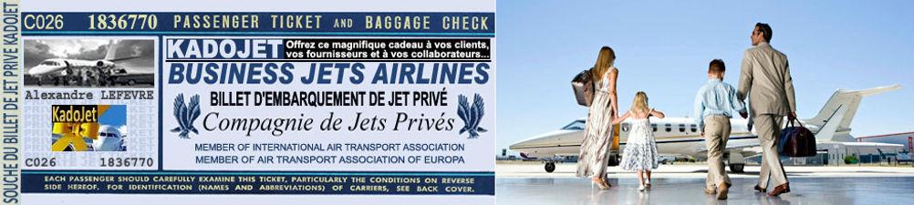 ticket de jet | jet prive | kadojet.com