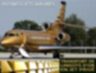Transport de lingots d'Or en Jet Privé