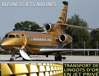 Transport de Lingots d'Or enjet privé, www.wwebforjetset.net
