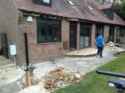 New soil pipe run