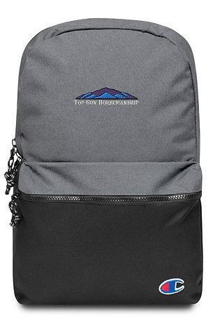Top Gun Horsemanship Embroidered Champion Backpack