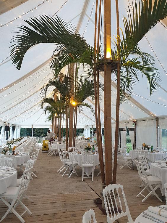 Chapiteau bambou mariage chateau