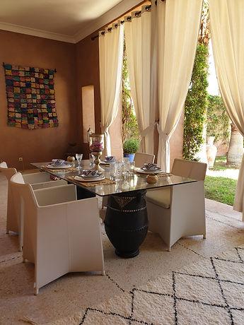 location marrakech villa piscine privée akhdar touhina