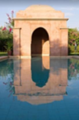 location villa marrakech maroc piscine golf services hôteliers