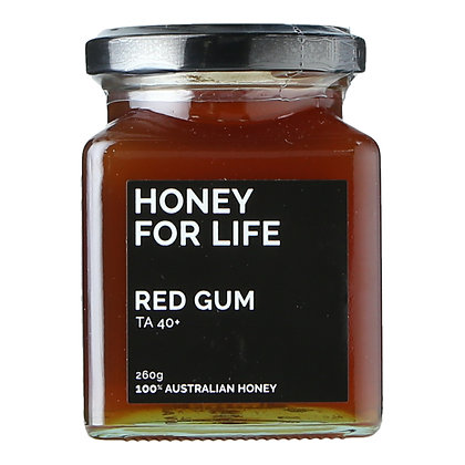 Honey for Life - Red Gum Honey TA40+ (260g)