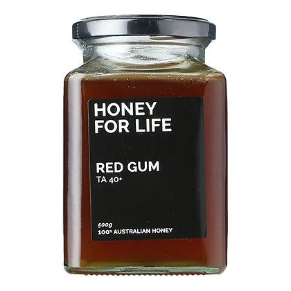 Honey for Life - Red Gum Honey TA40+ (500g)