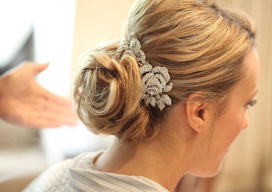13_short_hair_wedding_tousled_soft_bun_p