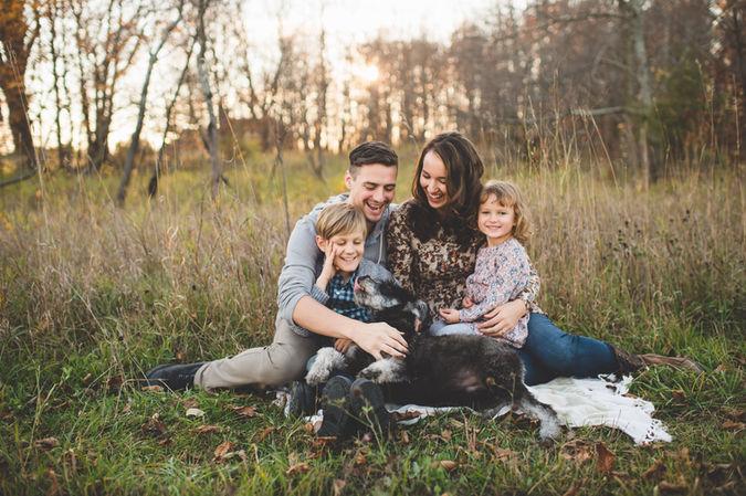 Family PoFamily Portrait in the Woods - Dubai family photographers rtrait