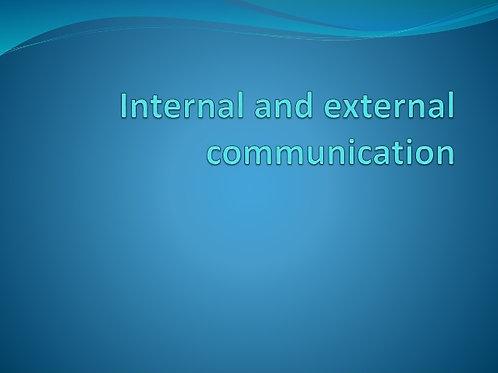 Internal, External Communications and Marketing