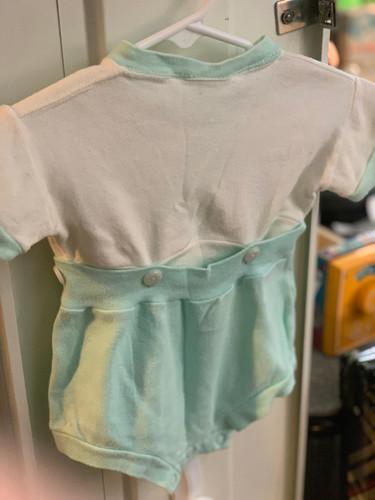 d9bc797a37a13 VTG Blue White 2 Piece Romper Baby Clothes
