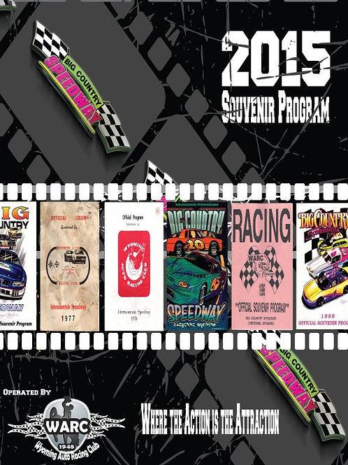 2015 Big Country Speedway Racing Program