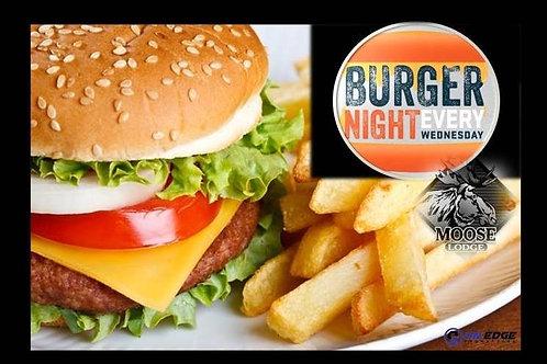Family Burger Night Menu