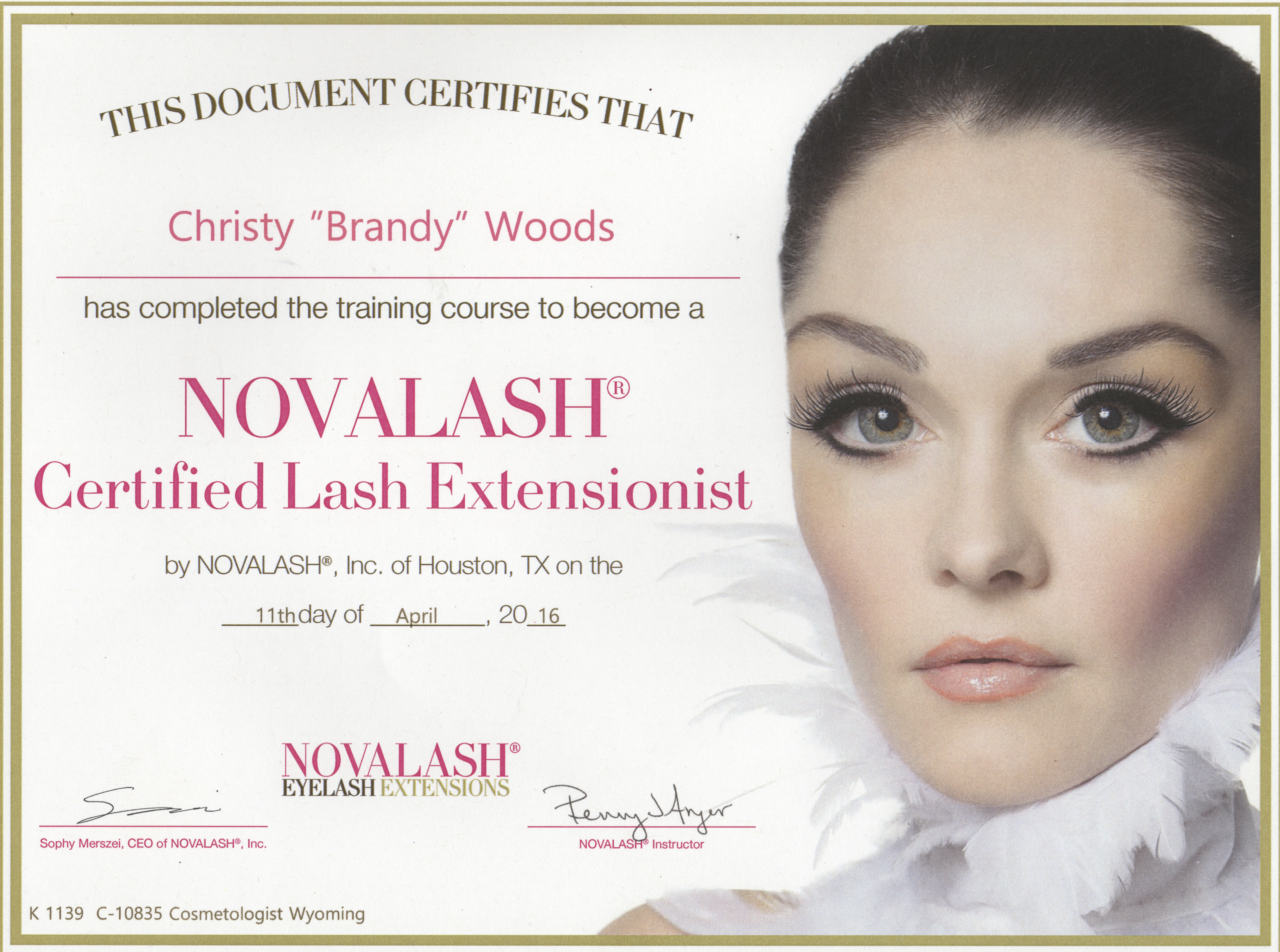 Novalash Certified