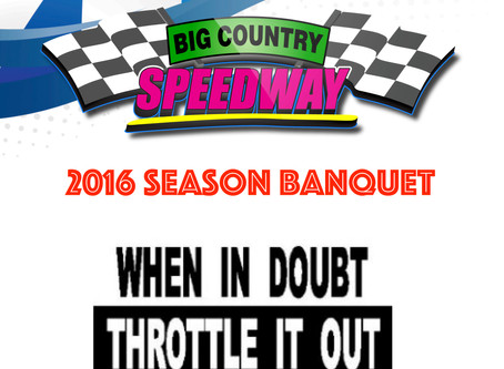 2016 Big Country Speedway Banquet