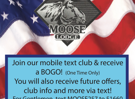 Join Our Mobile Text Club & Receive a BOGO