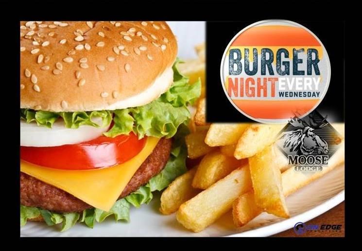 Burger Nights at Cheyenne Moose Lodge