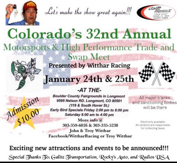 Colorado's 32nd Motorsports and High Performance Trade Show - a.k.a. Witthar Show