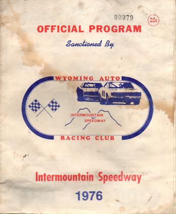 Blast From The Past- 1976 Racing Program