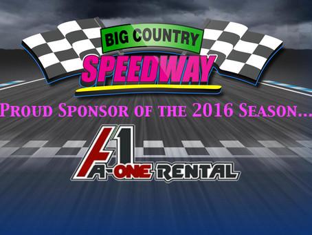 A1 Rental- 2016 Season Sponsor