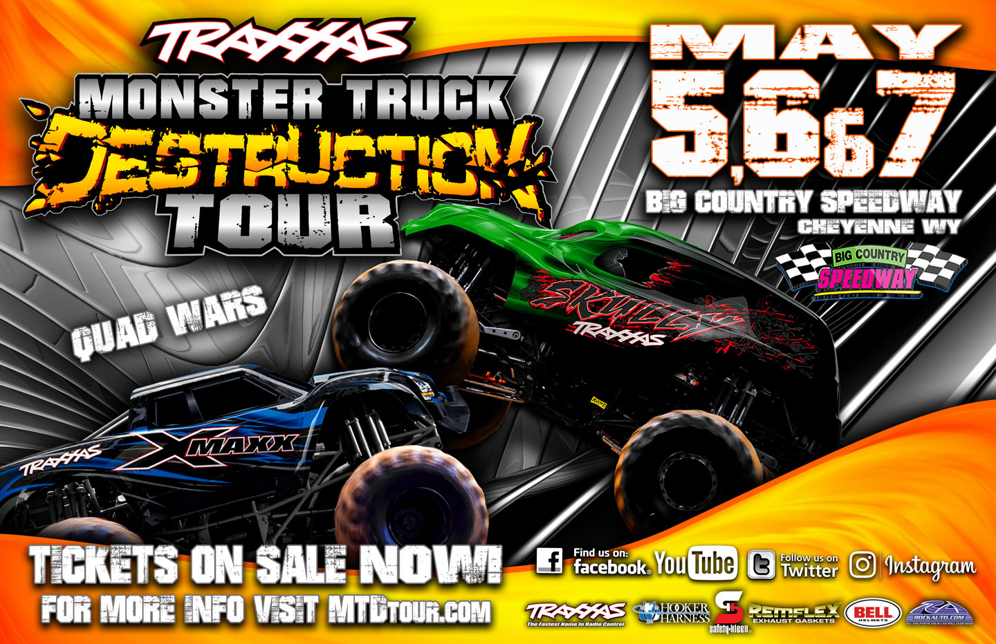 Traxxas Monster Truck Destruction Tour Coming To Big Country Speedway