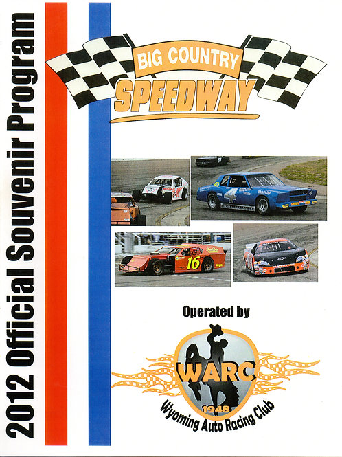 2012 Big Country Speedway Racing Program