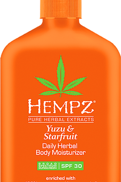 YUZU & STARFRUIT daily herbal body moisturizer with SPF 30
