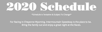 2020 Tentative Schedule Now Online