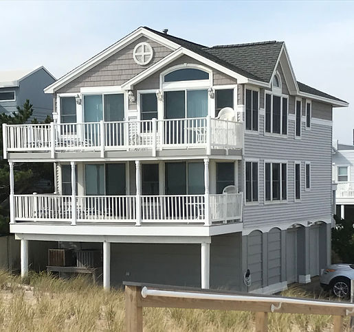 The beach front view of House