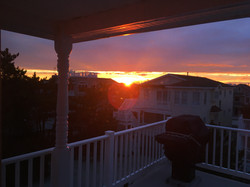 SUNSET ON THE BACK DECK