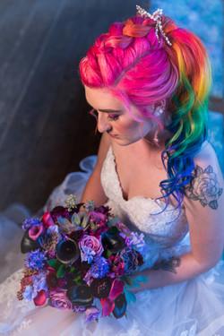 Rainbow Bridal Hairstyle