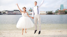 Classic Vintage Elopement Shoot At Disney World Boardwalk