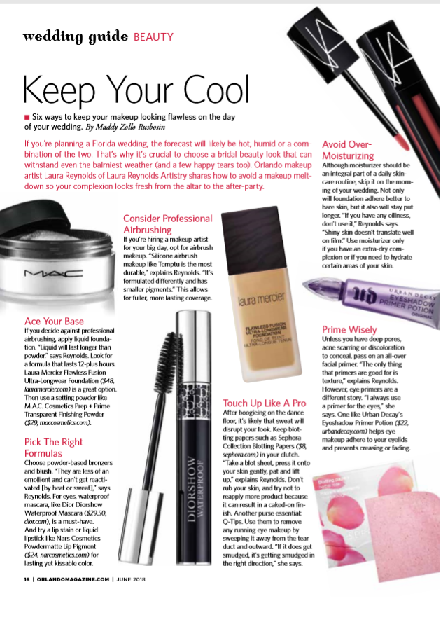 Makeup Artist Pro Contribution: Orlando Magazine Article