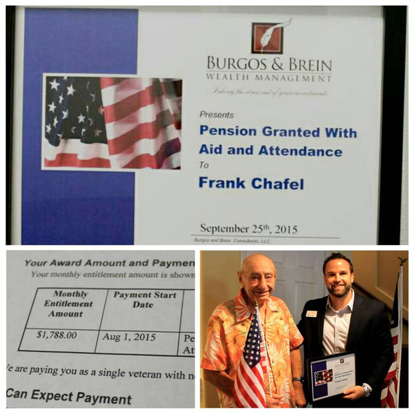 VA Aid and Attendance Pension Awarded