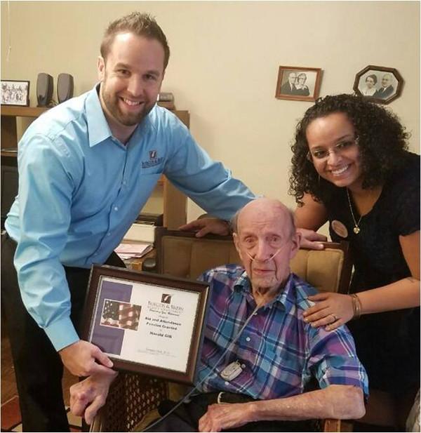 Veteran receives pension assistance