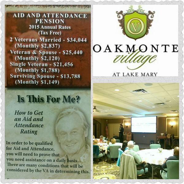 VA Workshop Success at Oakmonte Village