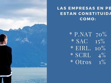 ¿Cómo están constituidas las empresas en Perú?