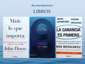 Tres libros: Recomendados