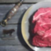 Black Angus stoofvlees uit de schouder van het rund.