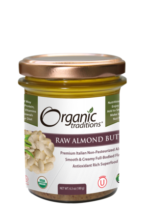 Organic Traditions - Raw Almond Butter 180g