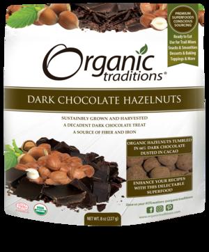 Organic Traditions - Dark Chocolate Hazelnuts 227g