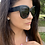 Thumbnail: Black Oversized Moodie Glasses-Mulberry and Grand Brand