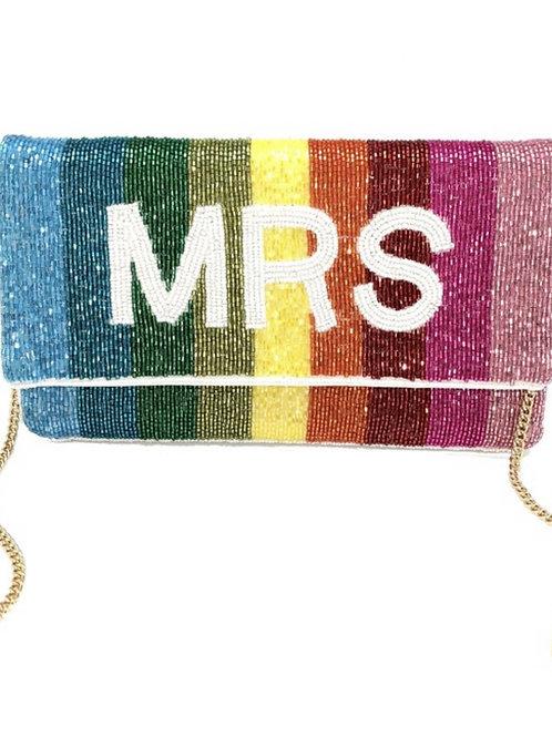 MRS. Rainbow Beaded Bag