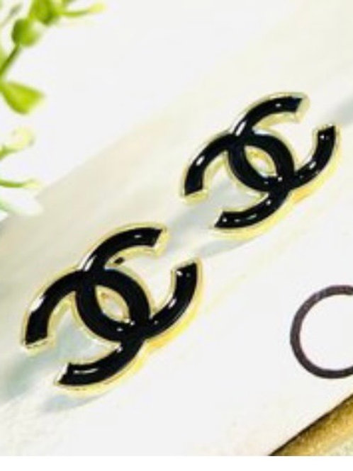 Such a Stud Black & Gold Chanel Earrings!